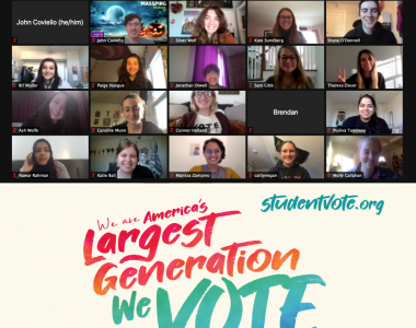 "Student volunteers host ""Virtual Party at the Polls"" to turn out the youth vote in the 2020 elections"